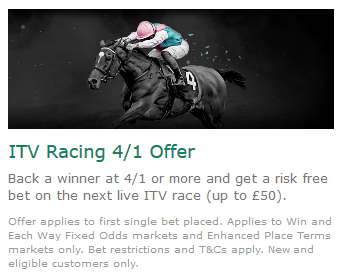 Screenshot of Bet365 ITV racing offer