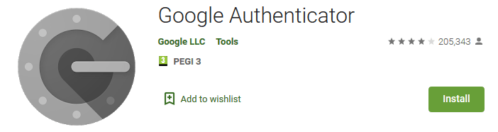 Google Authenticator App on Google Play store