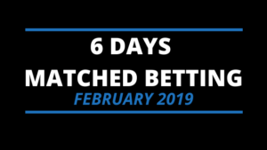 6 days matched betting diary